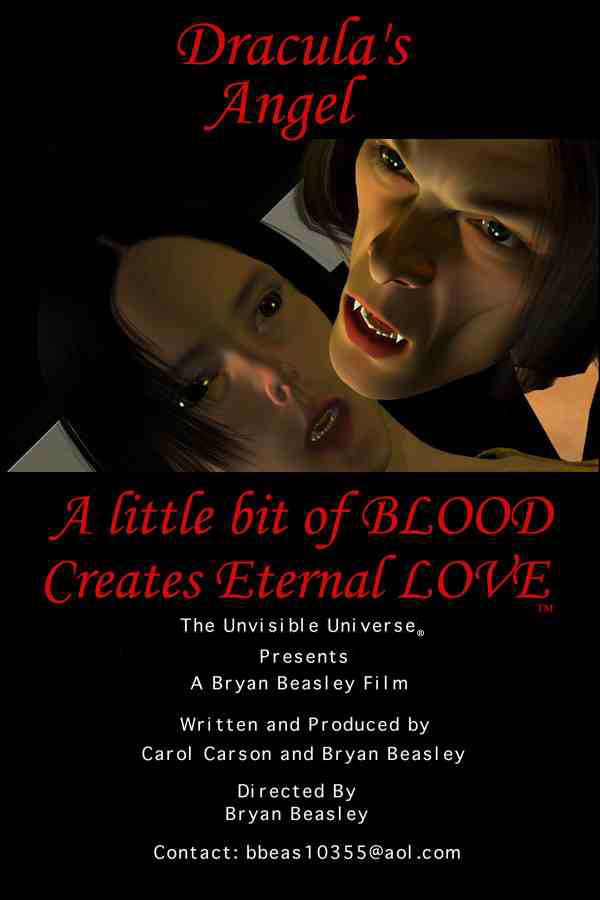 Dracula's Angel Poster A little bit of BLOOD  Creates Eternal LOVE&trade